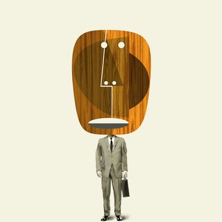 Man with Wooden Mask art for sale
