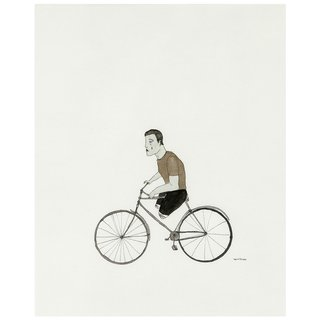 Slow Cyclist art for sale