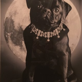 Bentley Glaviano With Moon and Diamonds art for sale