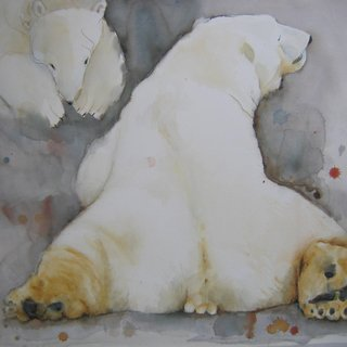 Polar Bears in Moscow Zoo art for sale