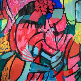 Woman with Flowers art for sale