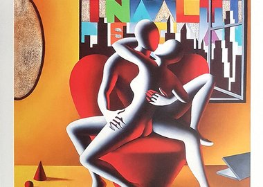 work by Mark Kostabi - The Book of Love