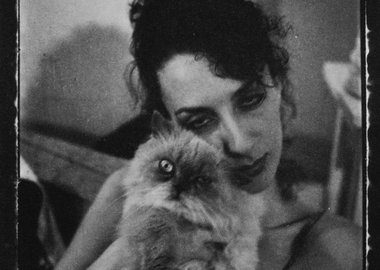 work by Mark Morrisroe - Untitled (Janet with Cat)