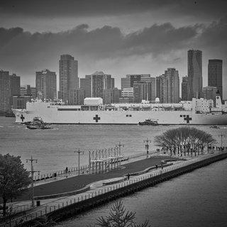 USNS Comfort, New York, NY, April 30, 2020. art for sale