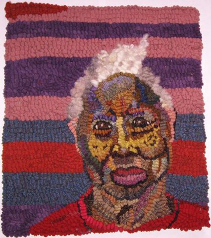 Mary Tooley Parker - Arlonzia Pettway, Gee's Bend Quilter, Mixed Media