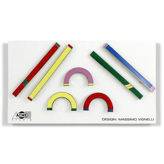 Massimo Vignelli 7 Bar Pin Set art for sale