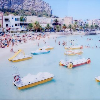Mondello Paddle Boat art for sale
