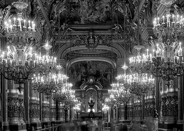 work by Matthew Pillsbury - Le Grand Foyer, Opera de Paris, Palais Garnier