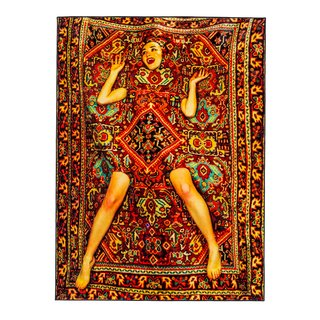 Lady on Carpet art for sale