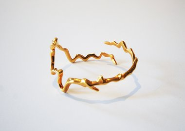 work by Maya Lin - Colorado River (24K Gold plated)