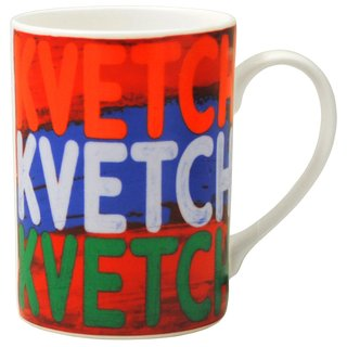 Set of Two Kvetch, Kvetch, Kvetch Mugs art for sale