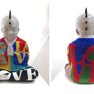 "PUNKBUDDHA large ""LOVE WINS"" feat. Indiana art for sale"