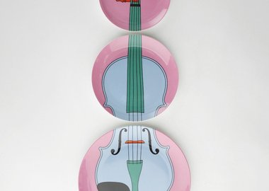 work by Michael Craig-Martin - Violin Plates (pink)