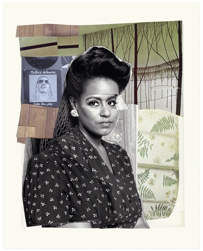 by mickalene_thomas - Clarivel with Black Blouse with White Ribbon