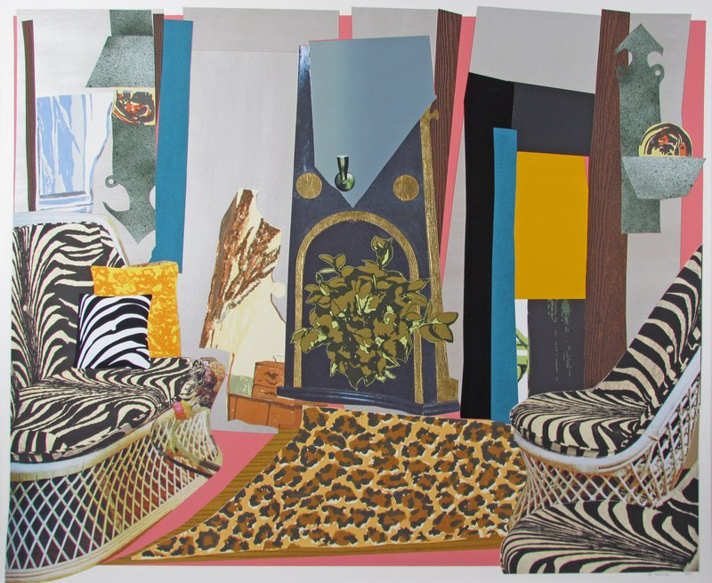 Mickalene Thomas, Interior: Zebra With Two Chairs And Funky Fur