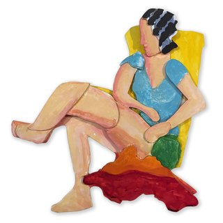 Seated Lady art for sale