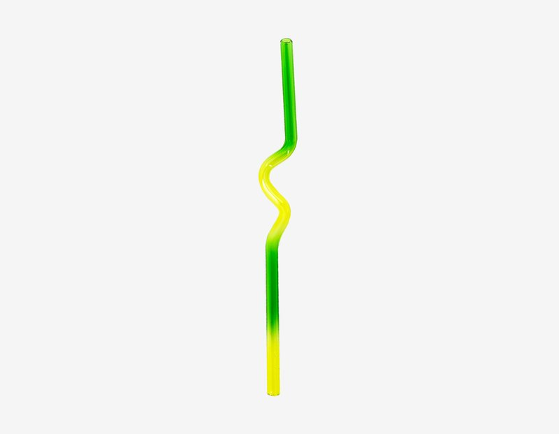 by misha-kahn - Suck it Up Straw - Green / Yellow