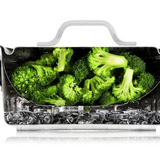 Steaming Broccoli Cutaway art for sale
