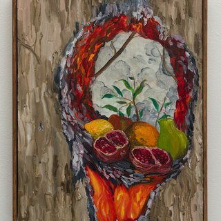 Still Life with Pomegranate, Lemon, Pear, Apple, Orange and Fly (After Courbet) art for sale