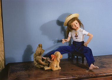 work by Morton Bartlett - Girl with Stuffed Animals