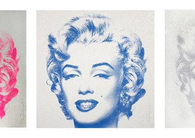 work by Mr. Brainwash - Diamond Girl (Silver, Pink, Blue)