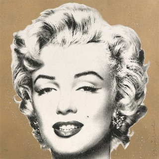 """Diamond Girl"" (Marilyn Monroe Gold) art for sale"