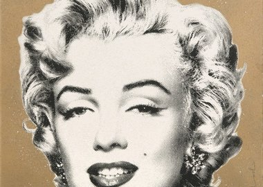 "work by Mr. Brainwash - ""Diamond Girl"" (Marilyn Monroe Gold)"