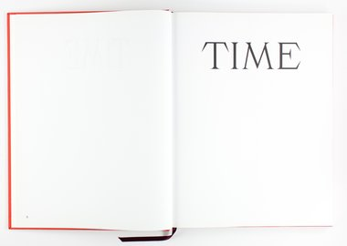Mungo Thomson - Font Study (Time)