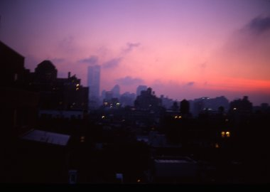 work by Nan Goldin - Apocalyptic Sky over Manhattan, NYC