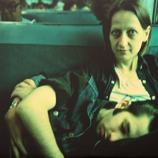 Suzanne and Philippe on the train, Long Island, NY art for sale