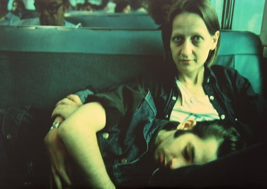 Nan Goldin - Suzanne and Philippe on the train, Long Island, NY