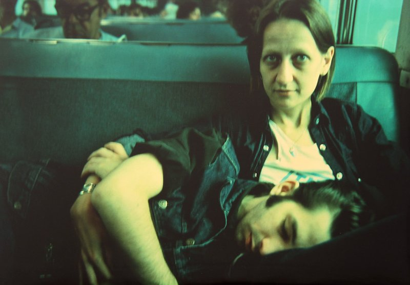by nan_goldin - Suzanne and Philippe on the train, Long Island, NY