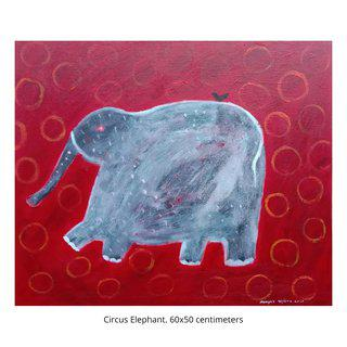 Circus Elephant art for sale