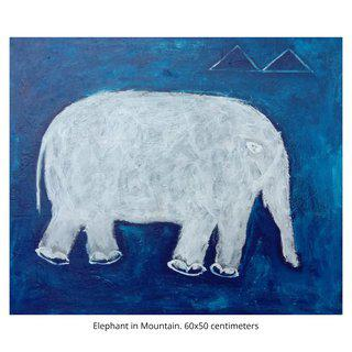 Elephant in Mountains art for sale