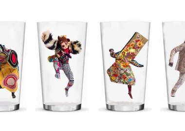 work by Nick Cave - Set of four drinking glasses