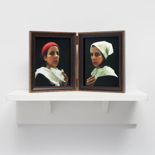 Lavatory Portraits in the Flemish Style #20 and #21 art for sale