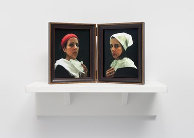 Nina Katchadourian - Lavatory Portraits in the Flemish Style #20 and #21