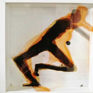 shadows of my dance orange I art for sale
