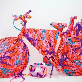 Crocheted Object - Bicycle art for sale