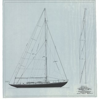 New York 32: Sail Plan, 1947 art for sale