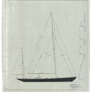 Dorade: Sail Plan, 1936 art for sale