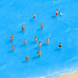Adriatic Sea (Staged) Dancing People 7 art for sale