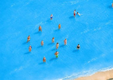work by Olivo Barbieri - Adriatic Sea (Staged) Dancing People 7