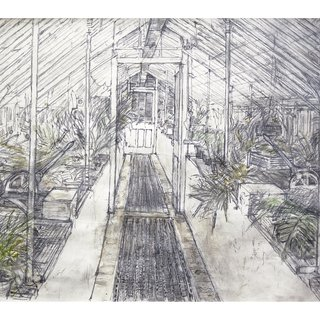 Glasshouse in West Dean Gardens art for sale