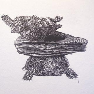 The Islands I Invent Everyday (Turtles) art for sale