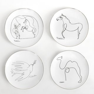 Pablo Picasso, Series of 4 plates, 21 cm