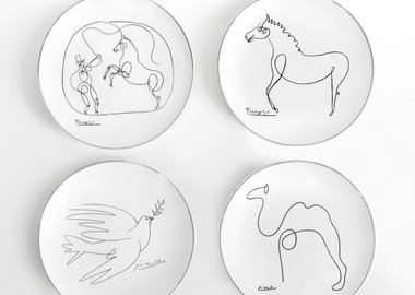 Pablo Picasso - Series of 4 plates, 21 cm