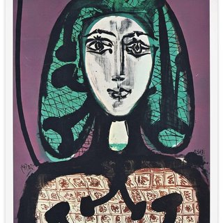 The Woman With A Hair Net - Offset Print 1970s After P. Picasso art for sale