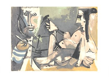 work by Pablo Picasso - The Artist and His Model