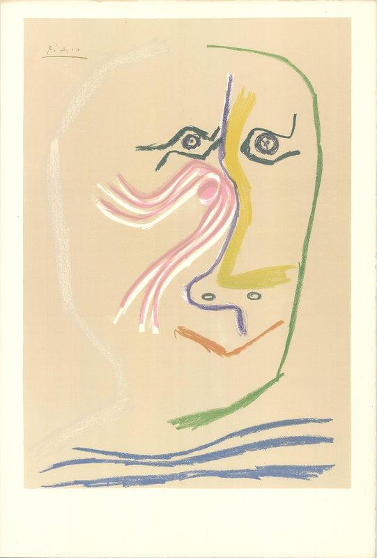 Vintage Lithograph Art Print Pablo Picasso La Toilette 1906 Paris France